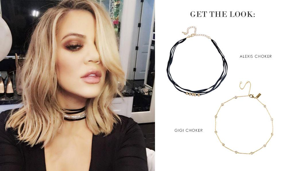 Get the Look: Khloe Kardashian | Choker Necklaces Ameniaarts