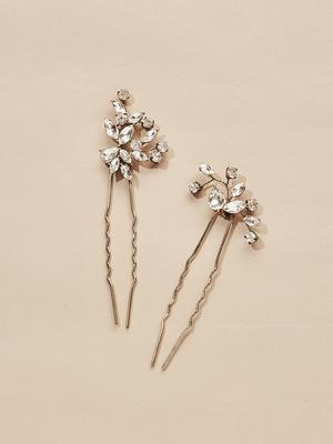 Load image into Gallery viewer, Ameniaarts Hudson Crystal Hair Pins (Set of 2)