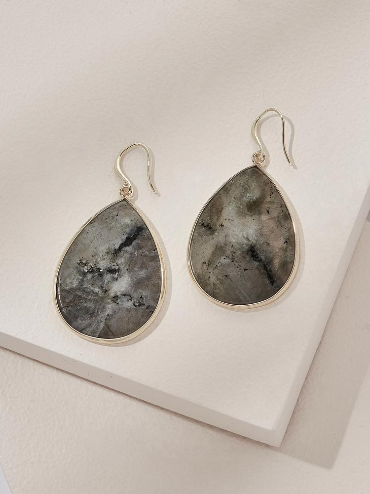 Load image into Gallery viewer, Ameniaarts Wolfe Drop Earrings - Labradorite