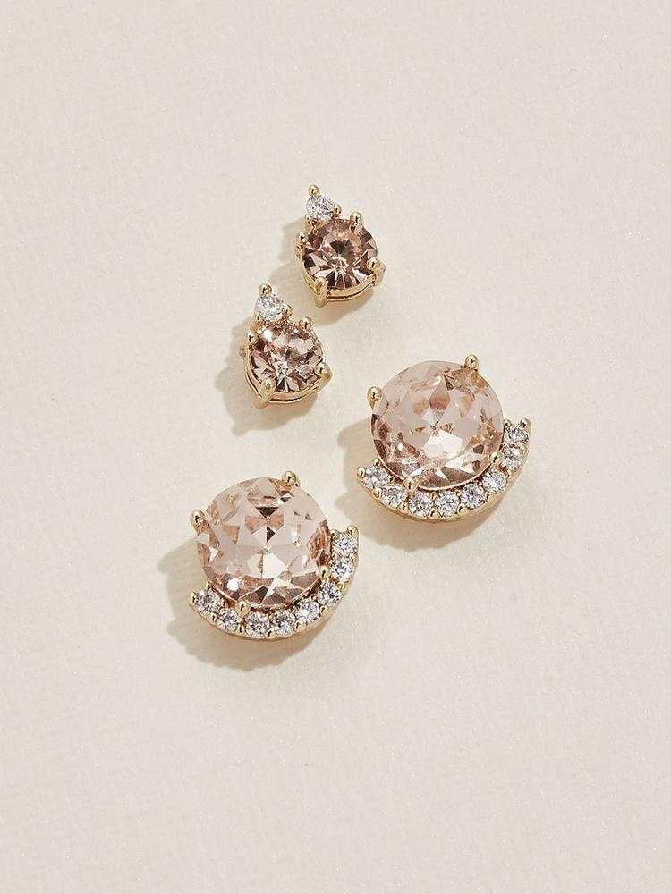 Ameniaarts Coco Earring Set - blush