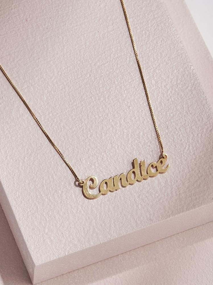 Handwritten Script Necklace