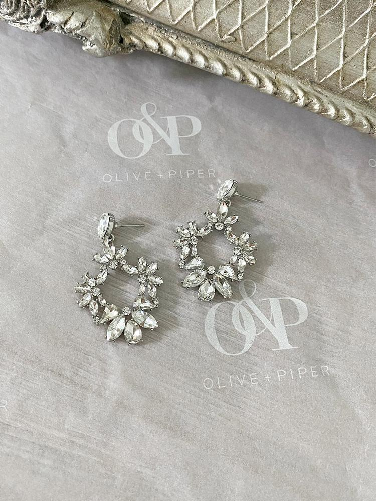 Ameniaarts Olivia Crystal Statement Earrings