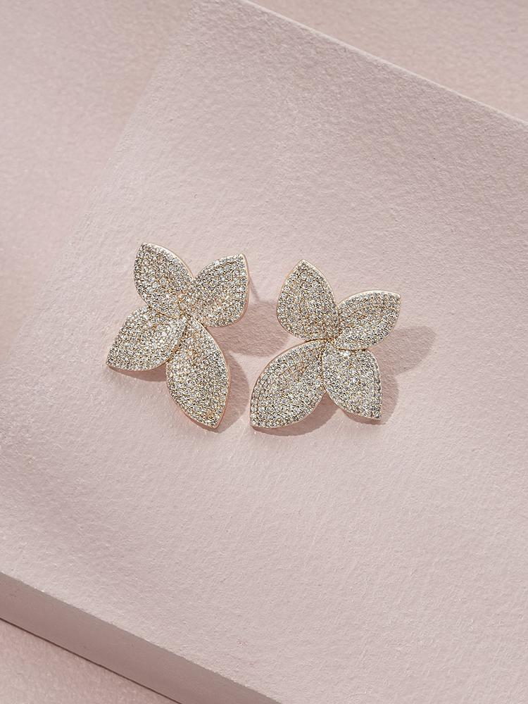 Primrose Cubic Zirconia Stud Earrings - Ameniaarts Vancouver