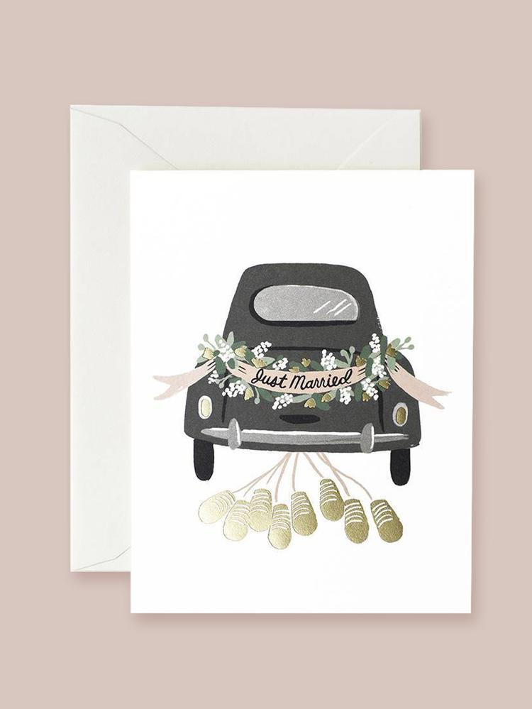 Just Married Getaway Card